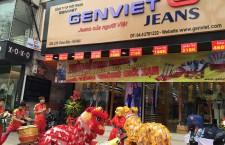Múa lân khai trương cửa hàng GenViet