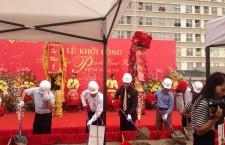 Múa lân lễ khởi công khu đô thị Dương Nội
