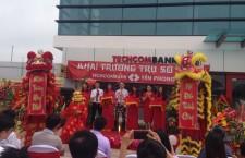 Múa lân khai trương Techcombank Yên phong Bắc Ninh