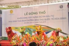 Múa lân sư rồng lễ khởi công khu sinh thái Hòa Bình