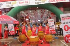 Múa lân Khai trương siêu thị VinPro Hà Nam
