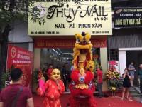 Dịch vụ múa lân khai trương quán Nail- Mi