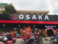 Múa lân khai trương lẩu băng truyền Osaka