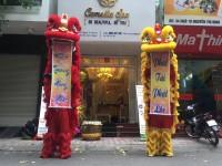 Múa lân khai trương Spa Camelli Hà Nội