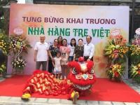 Múa Lân Khai Trương Nhà Hàng Tre Việt