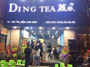 Cho thuê múa lân khai trương trà Ding Tea Hà Nội.