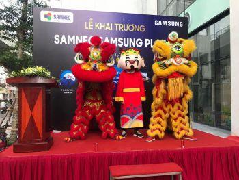 Cho thuê múa lân khai trương Samsung Hà Nội